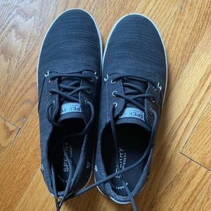 Brand new dark gray Sperry sneakers, boys size 7.